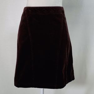 Lane Bryant women's skirt plus 26 brown corduroy
